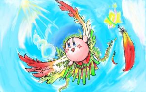 Kirby in flight by crackerjuice234