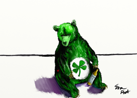 Care bear drunk on Saint Patrick's Day by evan3585