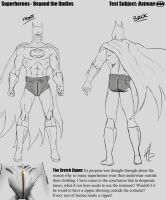 Superheroes - Beyond the Undies Study (Batman) by SylunaHirokashi