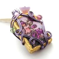 Canterbury Bell Fairy Pendant by sojourncuriosities