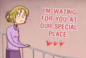 Valentine's Day Card  Mary by CopperKidd