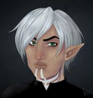 Fenris has a grump by roryseviltwin