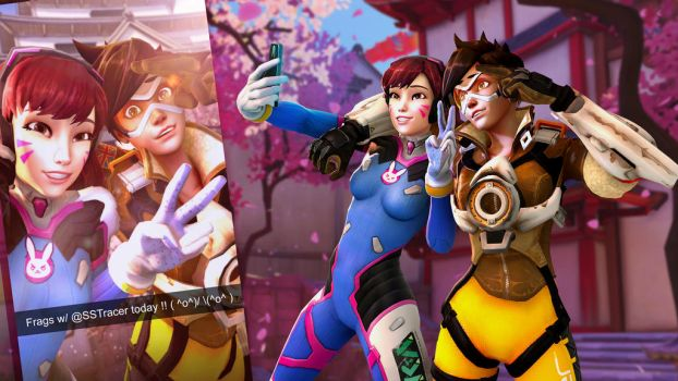 Selfie With D.VA and Tracer by codyrhodes20012001