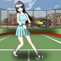 Tennis by redcomic