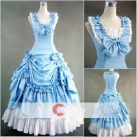 Sky Blue Ruffled Classic Lolita Dress by wendywei2012