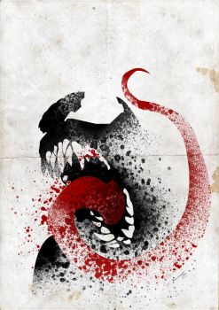 Paint Splatter Villains: The Symbiote by Arian-Noveir