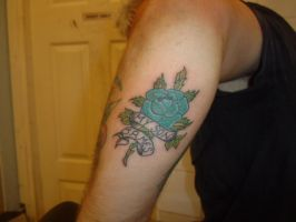 Blue Rose by GetSomeInk