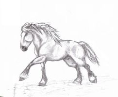 Pencil Horse II by Lcutter