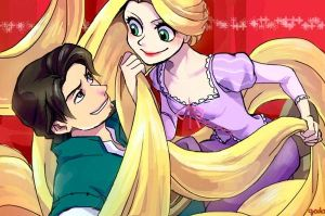 Rapunzel and Flynn Rider by godohelp