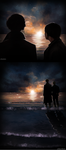 [Sherlock x John] staring at the ocean by xXMarilliaXx