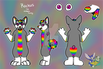 [H+T] Rockus the Rainbow Husky by CassMutt