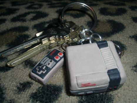 NES Keychain by SYNtheticPoetic