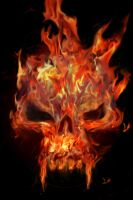 Flaming Skull by Chemikal-GraphiX