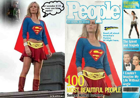 Supergirl Distracted Doing People Photoshoot by misstudorwoman