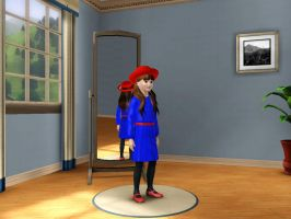 Sims 3 - Denise Nickerson in formal outfit 2 by Magic-Kristina-KW