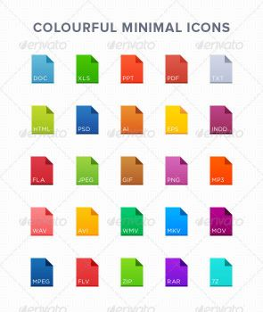 25 Colourful Minimal Icons by appetitecreator