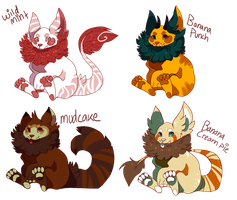 Creature Adoptables! [OPEN] 1 left. by saranuu