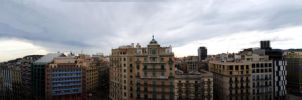 Barcelona from above by CaNuCk19
