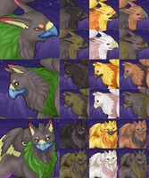 Free Feral Gryphon Portraits by FerianMoon