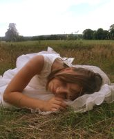 LYING DOWN GIRL STOCK by L-A-Addams-Art