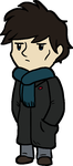 Chibi Sherlock by RockyGems