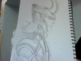 I drew Loki by MonsterNiccals
