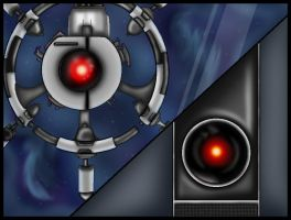 Hal 9000 And Auto by StellasStar
