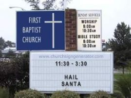 HAIL SANTA At Church by SpaceMonkey2D