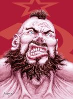 Zangief portrait by andresmoreno