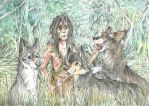 Mowgli and his Brothers by Taski-Guru