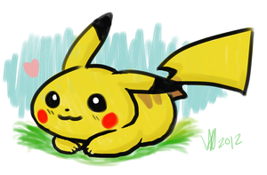 Pikachu quick painting by GothicHikage