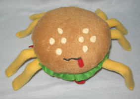 Spider burger by StarshinePlush