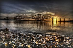 Forth Rail Bridge Sunrise by Spyder-art