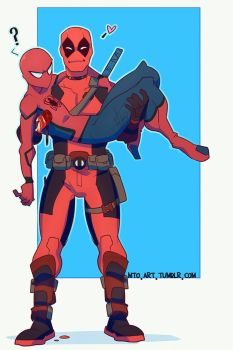 Spideypool by Mauw-than-one