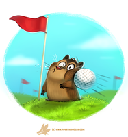 Daily Paint #1236. Golfpher by Cryptid-Creations