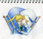 Hetalia Sweden x Findland - A Kiss under flags by SapphirineStar