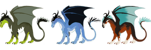 Dragon adoptables :TAKEN: by Kultapossu