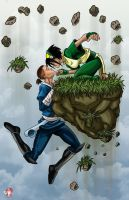 Sokka and Toph by WiL-Woods