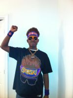 My Zack Ryder Cosplay for Acen 2012 W.I.P by TheBlackmanBrony