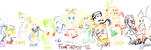 Final Fantasy VI cast by taiuzu2