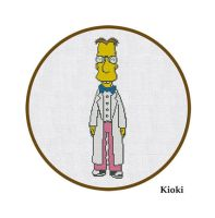 Cross Stitch Pattern Professor Frink the simpsons by TinyNeedle