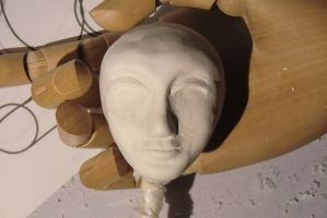First face sculpture WIP by Caleighs-World