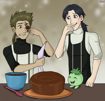 Baking with Yuki and Pipi by demonoflight