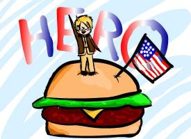 Burgers and Flags by AfishLovesAlfred