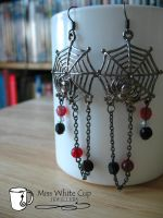 earrings: arachnophilia by Margotka