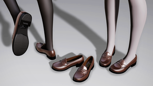 [DL] MMD High School Girl Loafers [MMD Shoes] by iRon0129