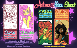 Commission Price Sheet by QueenAshi