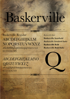 Baskerville Typespecimen by neronin