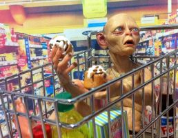 Smeagol Goes Grocery  Shopping by DedHampster