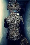 Turban and jacket wearable sclupture artist by overlord-costume-art